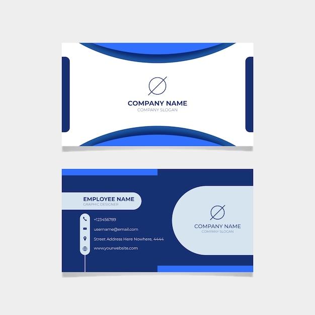 Abstrakte blaue visitenkarteschablone Kostenlosen Vektoren
