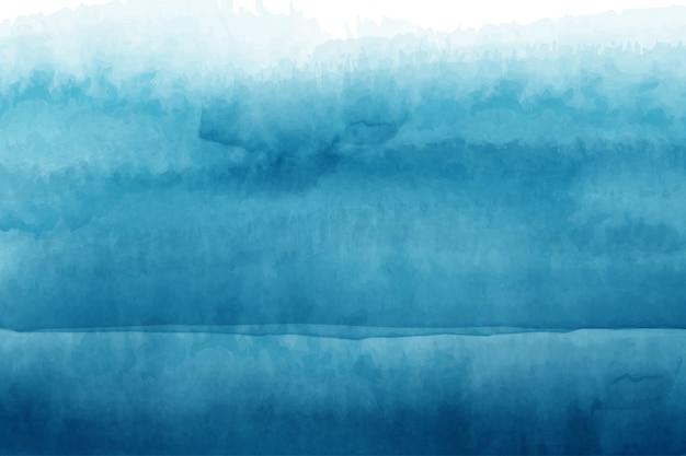 Abstrakte blaue wellen aquarell handgemalte hintergrund design Premium Vektoren