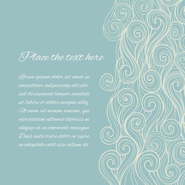 Abstrakte blue sea wave-vorlage mit copyspace Kostenlosen Vektoren