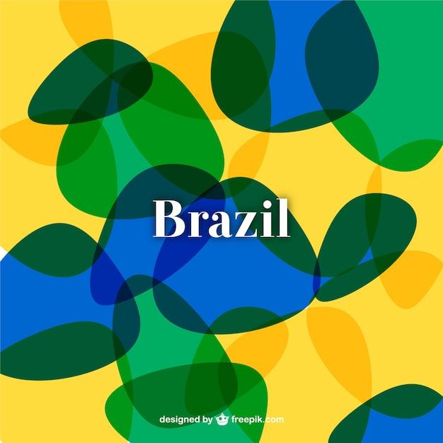 Abstrakte brasilien fußball-hintergrund Kostenlosen Vektoren