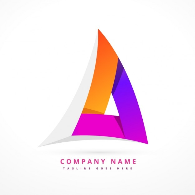 Abstrakte bunte dreieckige logo Kostenlosen Vektoren