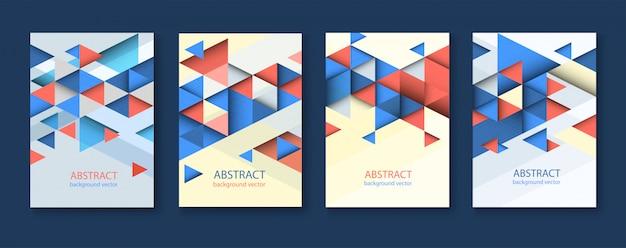 Abstrakte bunte geometrische dreieckige hintergründe. moderner flyer. Premium Vektoren