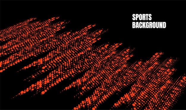Abstrakte bunte kunst für sporthintergrund. dynamische partikel Premium Vektoren