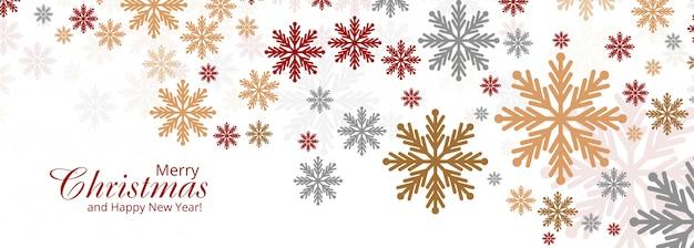 Abstrakte bunte weihnachtsschneeflockekarte Kostenlosen Vektoren