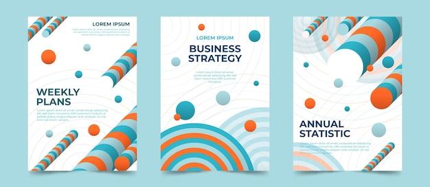 Abstrakte business-cover-sammlung Kostenlosen Vektoren