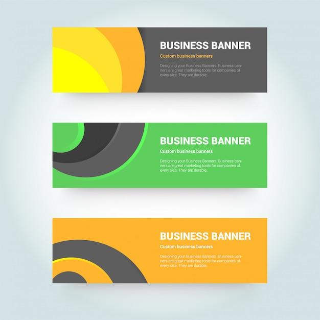 Abstrakte design-banner-web-vorlage Premium Vektoren