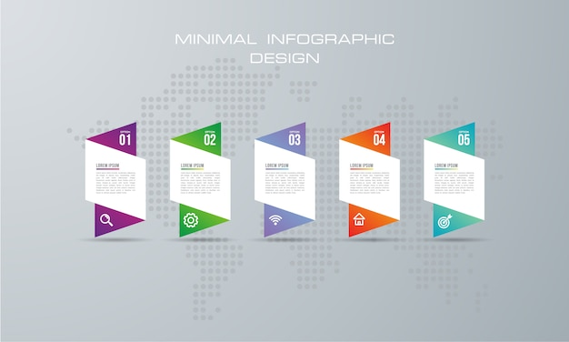 Abstrakte digitale illustration 3d infographic. wird für workflow-layout, diagramm und nummernoptionen verwendet Premium Vektoren