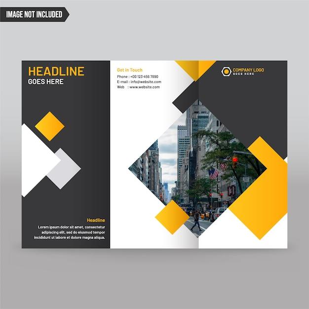 Abstrakte dreifachgefaltete broschürendesign-geschäftsschablone Premium Vektoren