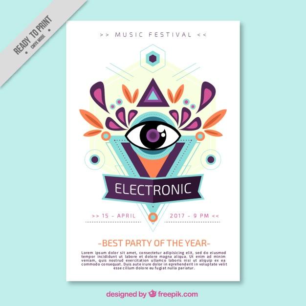 Abstrakte elektronische Musik Broschüre | Download der kostenlosen ...