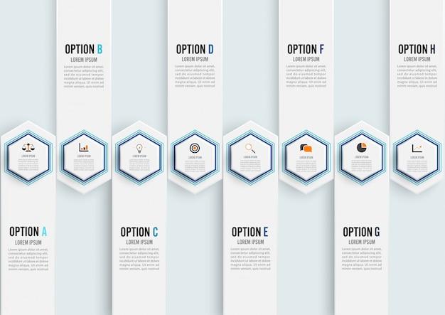 Abstrakte elemente der infographic schablone des diagramms Premium Vektoren