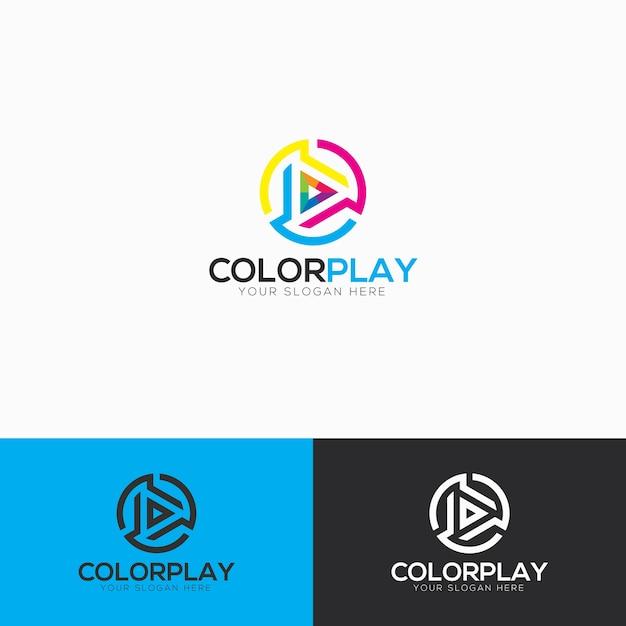 Abstrakte Farbspiel Logo Vorlage | Download der Premium Vektor