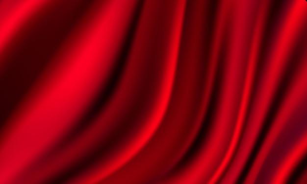 Abstrakte farbverläufe, hintergrund der roten wellenfahnenschablone des gewebes. Premium Vektoren