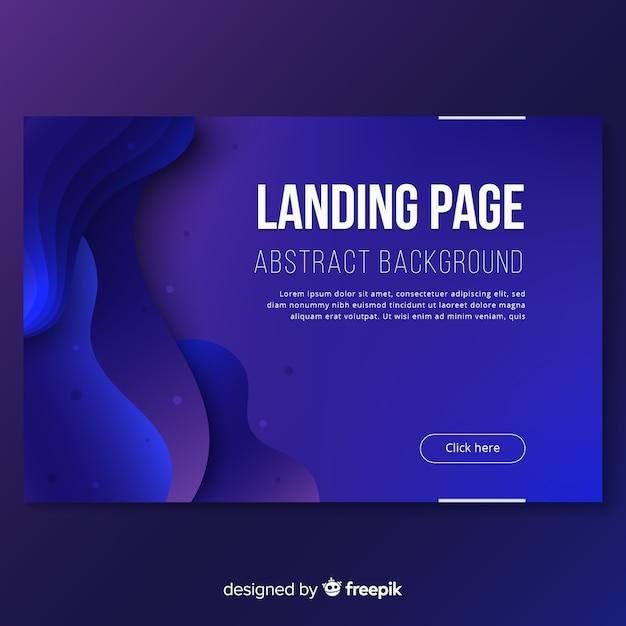 Abstrakte farbverlauf landing page vorlage Kostenlosen Vektoren