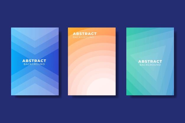 Abstrakte farbverlaufsformen decken satz ab Kostenlosen Vektoren