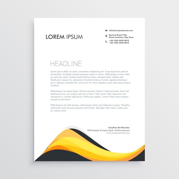 Abstrakte Gelbe Briefkopf Design Vorlage Download Der Kostenlosen