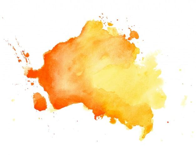 Abstrakte gelbe gezeichneter beschaffenheitshintergrund des aquarells hand Kostenlosen Vektoren