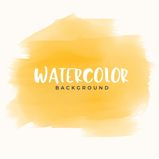 Abstrakte gelbe handmaler-aquarellbeschaffenheit Kostenlosen Vektoren