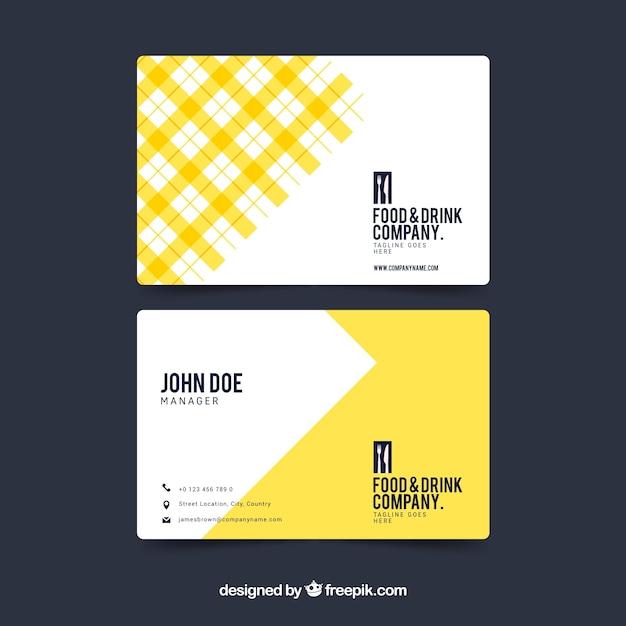 Abstrakte gelbe visitenkarte Kostenlosen Vektoren
