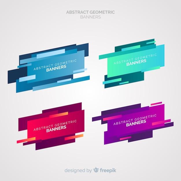 Abstrakte geometrische banner Kostenlosen Vektoren