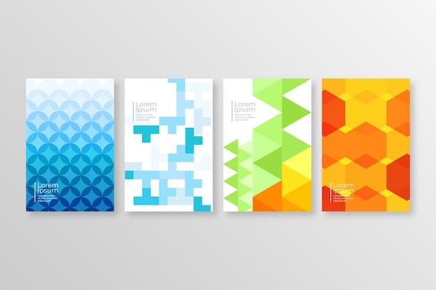 Abstrakte geometrische cover-auflistung Kostenlosen Vektoren