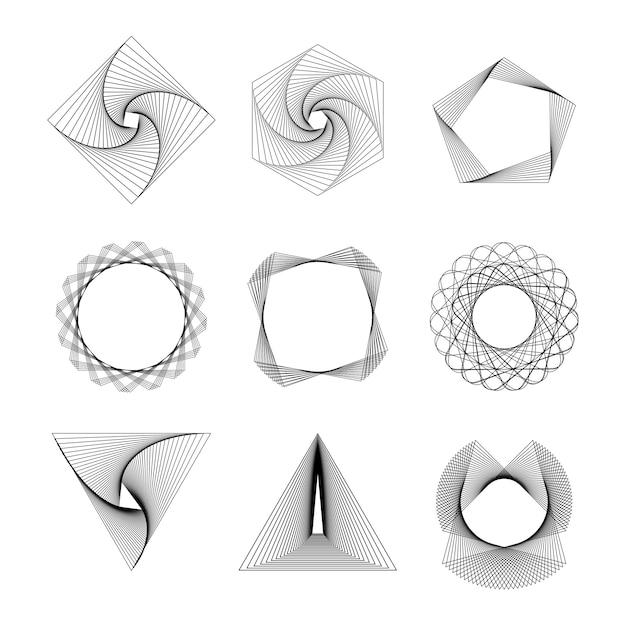 Abstrakte geometrische elemente vektor festgelegt Kostenlosen Vektoren