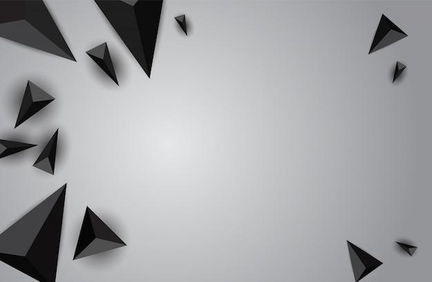 Abstrakte geometrische fahne der farbe mit dreieck. Premium Vektoren