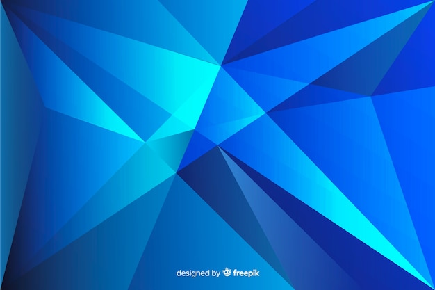 Abstrakte geometrische form im blauen schattenhintergrund Kostenlosen Vektoren