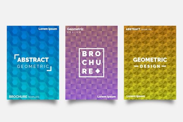 Abstrakte geometrische formen decken sammlungskonzept ab Kostenlosen Vektoren