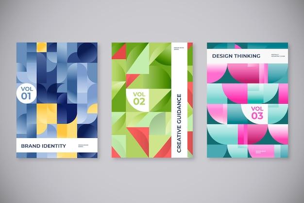Abstrakte geometrische formen umfasst Kostenlosen Vektoren