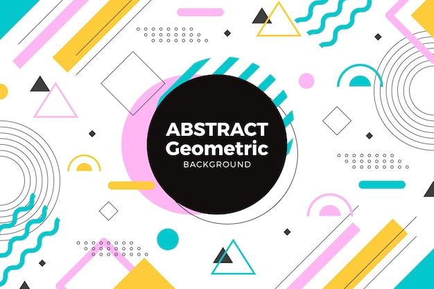 Abstrakte geometrische formtapete Kostenlosen Vektoren