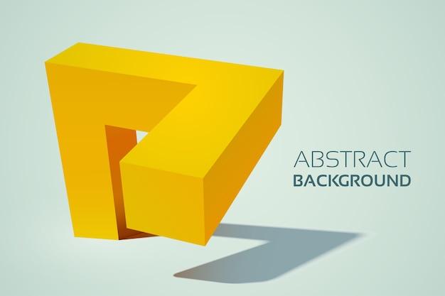 Abstrakte geometrische gelbe 3d form Kostenlosen Vektoren
