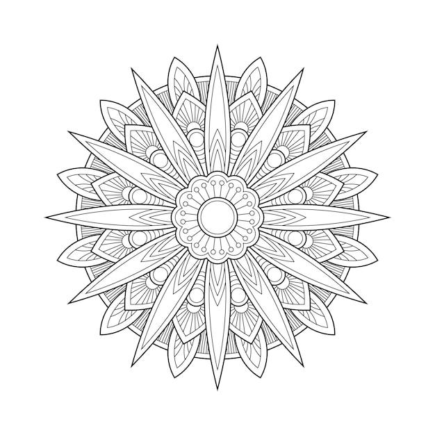 Abstrakte geometrische mandala arabesque malvorlage buchillustration. t-shirt. blumentapetenhintergrund Premium Vektoren