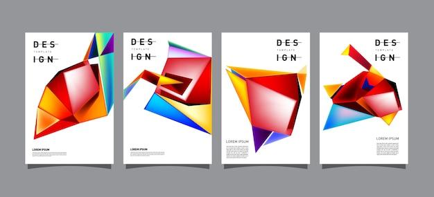 Abstrakte geometrische plakat-entwurfsvorlage Premium Vektoren