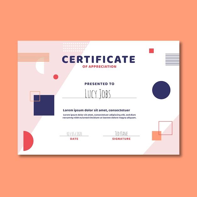 Abstrakte geometrische vorlage zertifikat Kostenlosen Vektoren