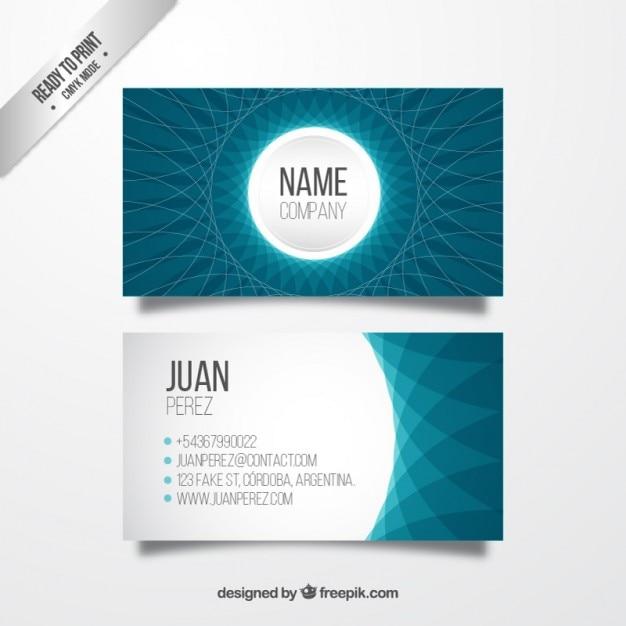 Abstrakte Geschäftskarte in blauen Farben Premium Vektoren