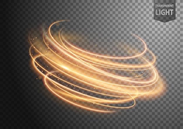 Abstrakte goldwindlinie des lichtes Premium Vektoren