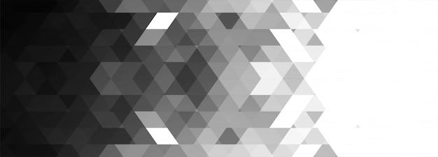 Abstrakte graue geometrische fahne Kostenlosen Vektoren