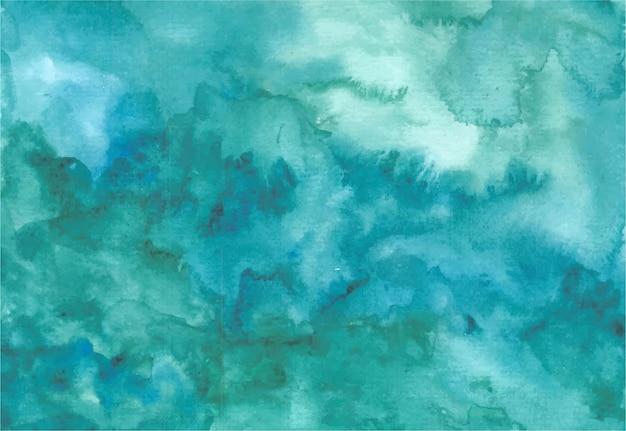 Abstrakte grüne wellen aquarell hintergrund handmalerei Premium Vektoren