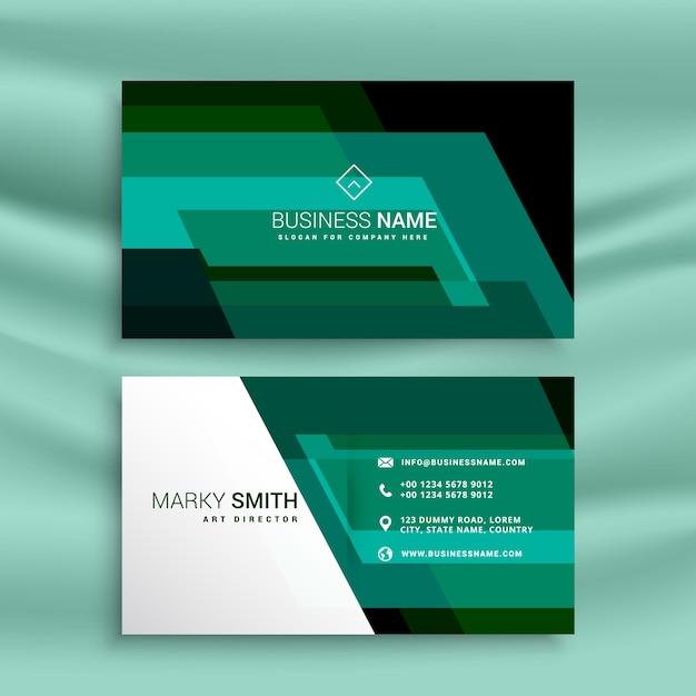Abstrakte Grüne Visitenkarte Design Vorlage Download Der