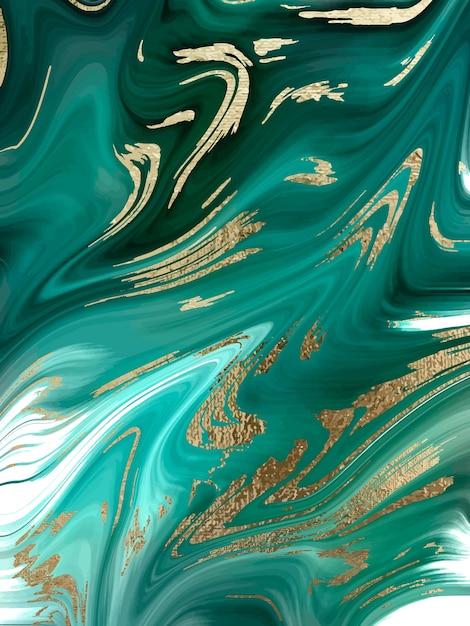Abstrakte hintergrundbeschaffenheit des grünen marmors und des goldes Premium Vektoren