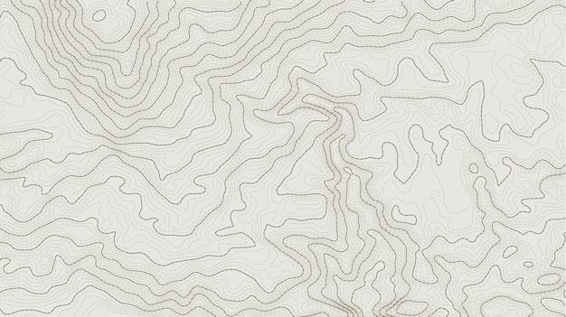 Abstrakte höhenlinie der topographischen höhenlinienkarte Premium Vektoren