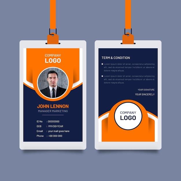 Abstrakte id-karten-vorlage Premium Vektoren