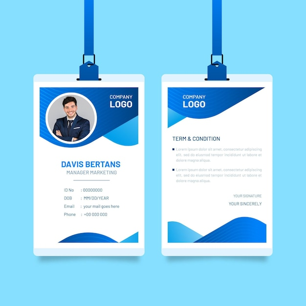 Abstrakte id-karten Premium Vektoren