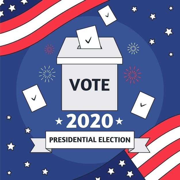 Abstrakte illustration für 2020 uns präsidentschaftswahlen Kostenlosen Vektoren