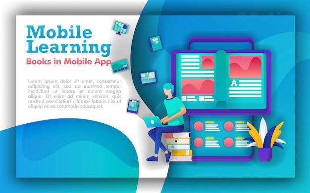 Abstrakte illustrationen zum online-lesen oder e-book Premium Vektoren