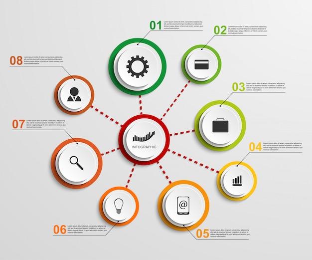 Abstrakte infographic designschablone. Premium Vektoren