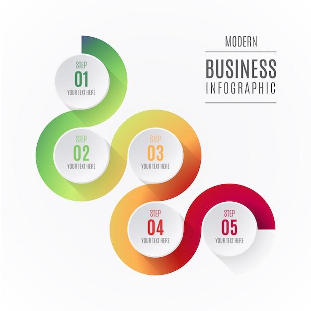 Abstrakte infographic-elemente mit schritten Kostenlosen Vektoren
