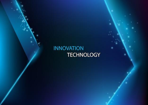 Abstrakte innovation und technologie mit dem blitzpfeilhintergrund. Premium Vektoren