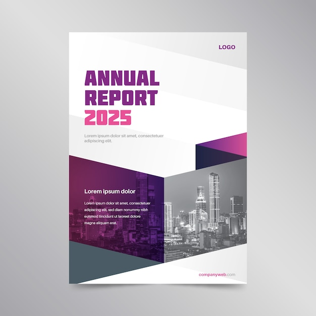 Abstrakte jahresbericht vorlage Kostenlosen Vektoren