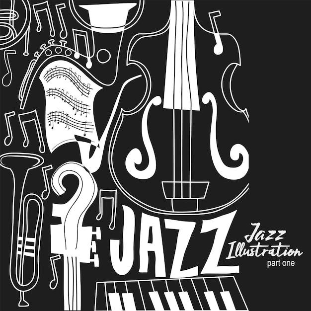 Abstrakte jazz-illustration Premium Vektoren